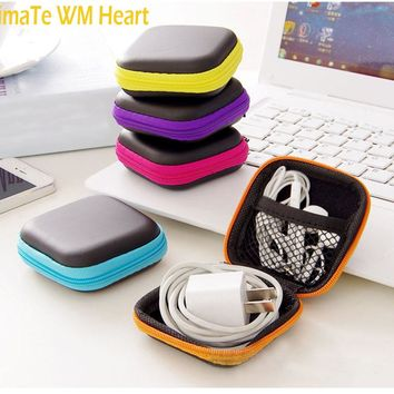 1pc Earphone Wire Storage Box Protective Zipper Data Line Cables Storage Container Case casual gift phone accessory #45