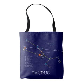 Constellation TAURUS unique, elegant Tote Bag