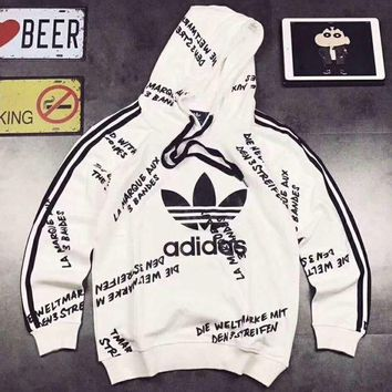 PEAPUF3 Adidas Women Man Fashion Embroidery Beads Top Sweater Pullover Hoodie G-A-GHSY-1