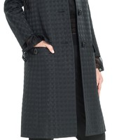 Dotted Cloque Topper Coat by Leon Max | Max Studio Official