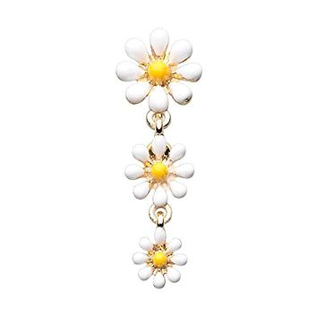 Golden Reversible One Daisy at a Time WildKlass Belly Button Ring