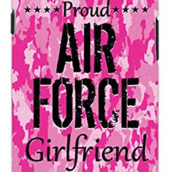 Premium Pink Camo Proud Air Force Military Girlfriend Camouflage Unique Quality Soft Rubber TPU Case for Samsung Galaxy S4 I9500 - White Case