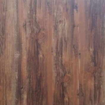 TrafficMASTER 5.15 in. x 36 in. Gunstock Peel and Stick Vinyl Plank Flooring (24.4625 sq. ft. / case)-32610 - The Home Depot