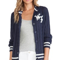 Wildfox Couture A True Star Cardigan in Navy