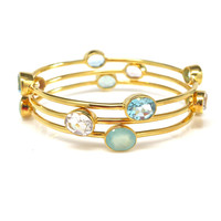Gemstone Trio Bangle Set