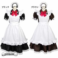 Classic Maid Cosplay -- Black with Red Ribbon (M)