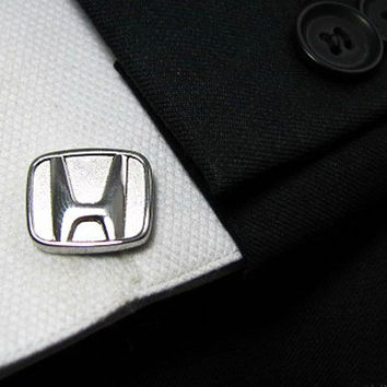 Car logo Cufflinks Set - Honda cufflinks - Mens Cufflinks - Metal cufflinks - Wedding gift for men - Mens cufflinks