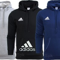 ADIDAS FLEECE OVERHEAD HOODIE HOODY SWEATSHIRT SWEATER JUMPER TOP S M L XL XXL