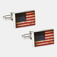 Men's Cufflinks, Inc. 'USA Flag' Cuff Links - Red/ White/ Blue