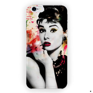 Audrey Hepburn Quotes Colorful Vintage Poster For iPhone 6 / 6 Plus Case