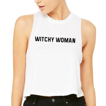 Witchy Woman Tank Top Racer Crop