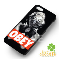 Obey Marylin Monroe Quotes - 123zz for  iPhone 6S case, iPhone 5s case, iPhone 6 case, iPhone 4S, Samsung S6 Edge