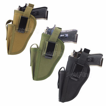 Tactical Waist Gun Holster with Magazine Slot EDC Right and Left hand side Pistol Hand Gun Holder Pouch