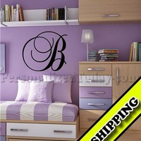Large Letter Your Choice Vinyl Lettering Wall Monogram Words Wall Decal Decor