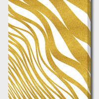 «Golden Wave», Numbered Edition Canvas Print by Uma Gokhale - From $49 - Curioos
