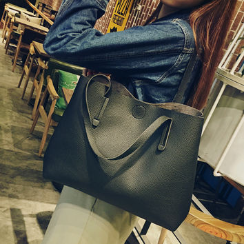 Black Women Casual Handbag Shoulder Bag Tote Purse + Free Christmas Gift Black Boho Choker