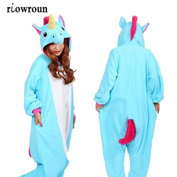 Onesuit Adults Women Unicorn Stitch Panda Pikachu Giraffe Flannel Hoodie Pajamas Set Costume Cosplay Animal Onesuit Sleepwear Men