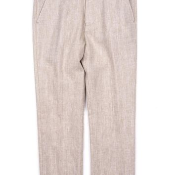 Appaman Boys' Khaki Herringbone Suit Pant