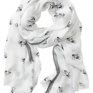 Banana Republic Addie Scarf Size One Size - Black/white