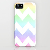 Watercolor Chevrons iPhone & iPod Case by CMcDonald