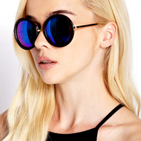 F1308 Cool Girl Round Sunglasses
