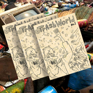 TRASH WORLD COMIX #1 BY TIM ROOT