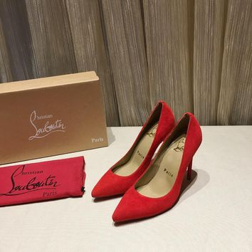 CL Christian Louboutin Women Trending red High Heel Shoes Best Quality