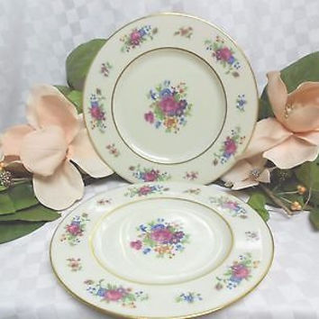 Lenox China Dinnerware Lenox Rose pattern # J300  Set 2 dinner plates
