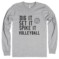 dig, set, spike-Unisex Heather Grey T-Shirt
