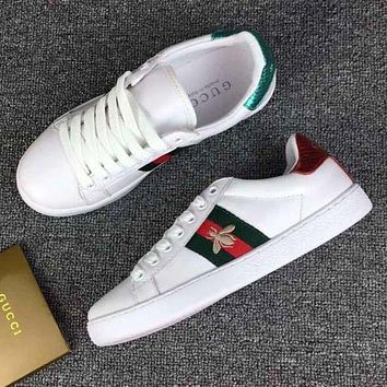 Gucci Fashion Women Bee Embroidery Old Skool Sneakers Sport Shoes G