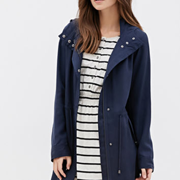 Hooded Longline Utility Jacket
