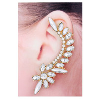 Gold & Clear Vintage Style Ear Cuff