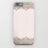 Damask Lace Pattern iPhone & iPod Case by Nika In Wonderland