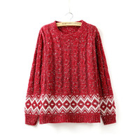 Twisted Pullover Winter Sweater [8422527233]