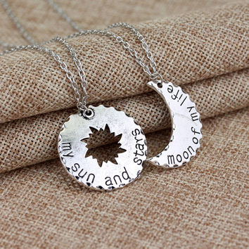 "'My sun and stars""""Moon of my life"" Necklace Accessory [9405061572]"