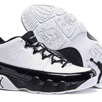 DCCKL8A Jacklish Air Jordan 9 Low Retro White Black 2016 Cheap On Sale