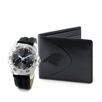 Carolina Panthers NFL Men's Watch & Wallet Set