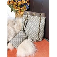 GUCCI New fashion more letter leather shoulder bag crossbody bag two piece suit
