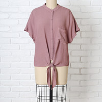 Mora Button-Up Blouse-FINAL SALE