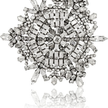 Saint Laurent - Silver-tone crystal brooch