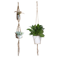 2 Style Macrame Plant Hanger Pot Holder Polypropylene Fiber Rope Handmade Garden Home Decoration Flower Plant Display