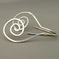 Sterling Silver Spiral Dangle Earrings | The Silver Forge Handcrafted Jewellery