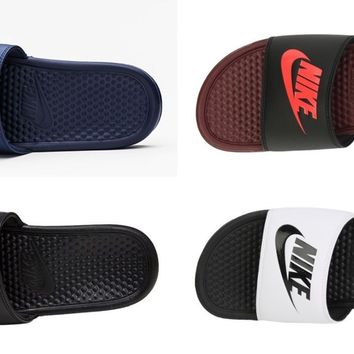 Nike Men Benassi Just Do It Slipper Training Shoes Beach Slide Sandales 343880