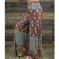 Canyon Vibrations Orange Tribal Palazzo Pants