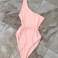 Solid Color Sexy One Piece Swimsuit
