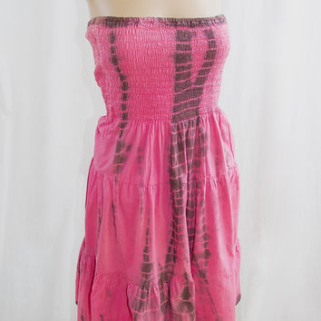 Pink Raya Tie-Dye Sundress - XL