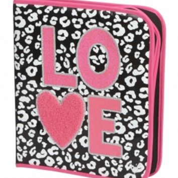 CHEETAH LOVE BINDER | GIRLS SHOP BY PRINT FEATURES | SHOP JUSTICE