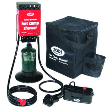 Zodi Outback Gear 6189 Hot Tap Single Burner Instant Hot Shower + Bag