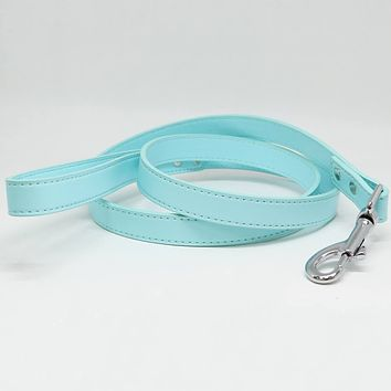 Blue Light dog Leash, Pet Wedding accessory, Blue Light Leather leash, Dog Lovers, Custom leash