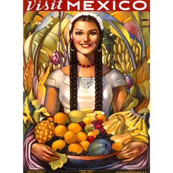 Visit Mexico Travel Wood Sign